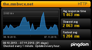 Response time for the.mnbvcx.net before 07 Nov 2013